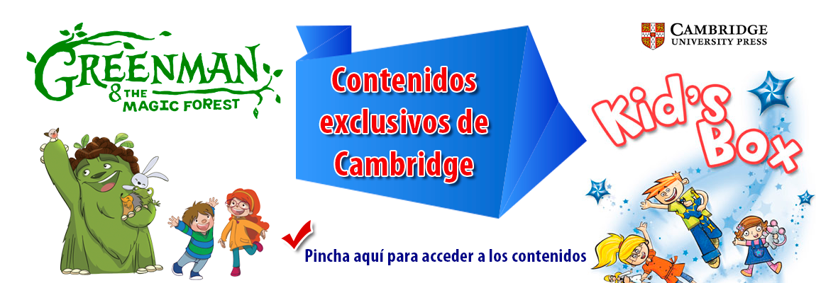 Contenidos exclusivos de Cambridge